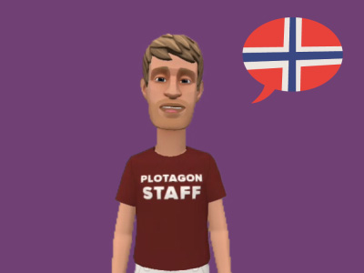 Image of Olav, a Norwegian digital voice.