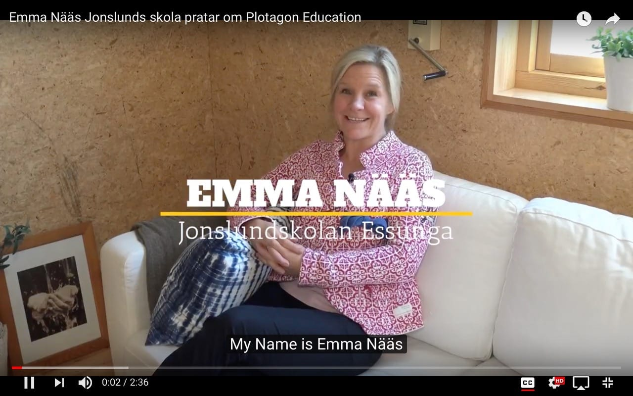 Emma Nääs, Jonslunds Skola, Sweden