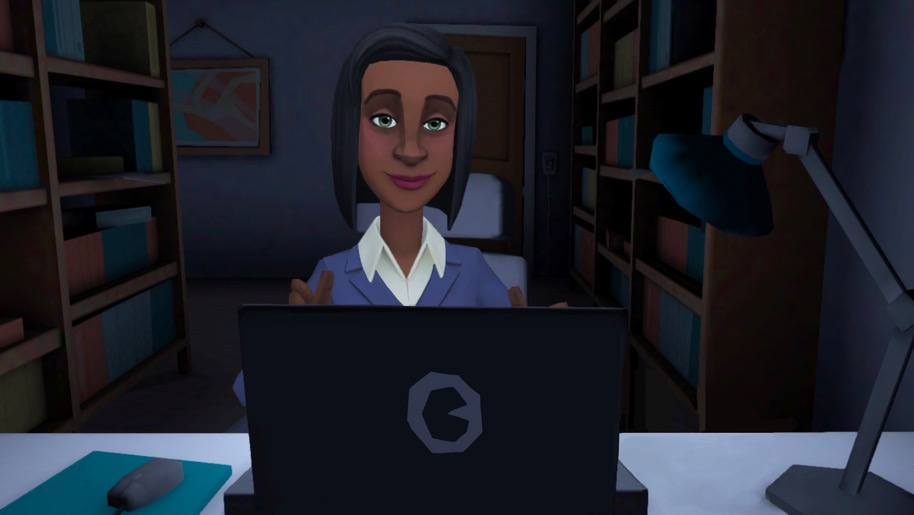 Woman at computer image