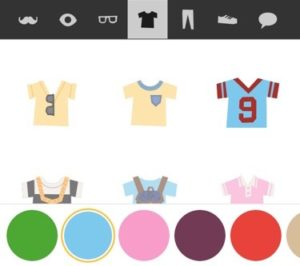 Image of some shirts in the character creator. Some of them are grayed out.