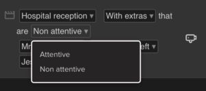 Image showing how to set extra characters as either attentive or non-attentive.